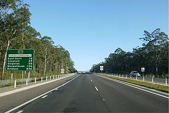 Hunter Expressway - View westbound after the Newcastle Interchange