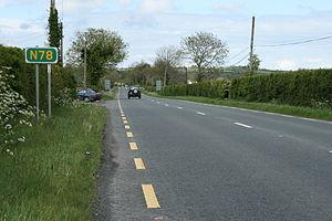 N78 road (Ireland) - N78 north of Newtown, County Laois