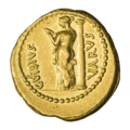 INC-1839-r Ауреус ок. 42 г. до н. э. Монетарий Гай Вибий Вар (реверс).png