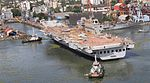 INS Vikrant being undocked at the Cochin Shipyard Limited in 2015 (06).jpg