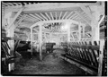 INTERIOR, FEEDING STALLS - Fountain Grove, Barn, Mendocino Avenue and US Highway 101, Santa Rosa, Sonoma County, CA HABS CAL,49-SANRO,2-6.tif
