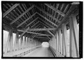 INTERIOR VIEW FROM WEST. - Kenyon Bridge, Spanning Mill Brook, Town House Road, Cornish City, Sullivan County, NH HAER NH-40-4.tif