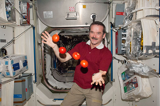 ISS-34 Chris Hadfield juggles some tomatoes