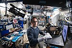 ISS-54 Joseph Acaba works inside the Harmony module.jpg