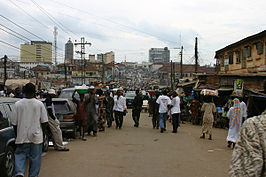 Straatbeeld in Ibadan