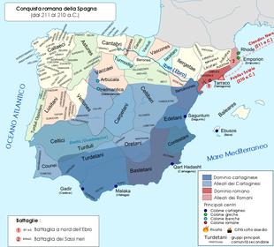 Cartina Spagna Romana.Conquista Romana Della Spagna Wikipedia