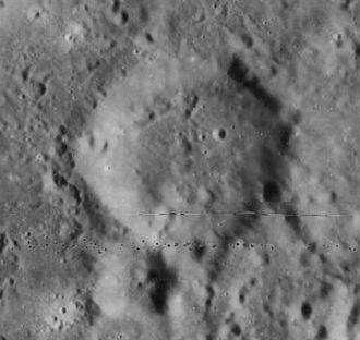 Ibn-Rushd (crater) - Lunar Orbiter 4 image