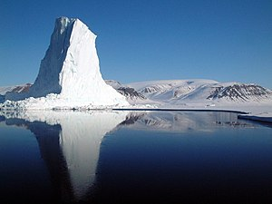 Baffin Bay - An iceberg at the edge of the Baffin Bay's sea ice.