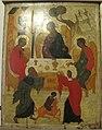 Icone, trinità dell'antico testamento, metà del xvi sec, novgorod, 01.JPG