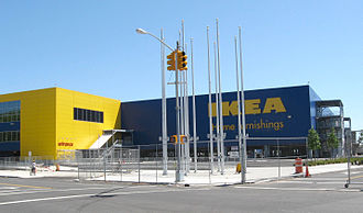 Red Hook, Brooklyn - North side of the IKEA store before opening.