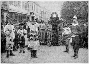 Jack in the green - May Day in Cheltenham, 1892, from Folk-Lore Vol 4 (1893)