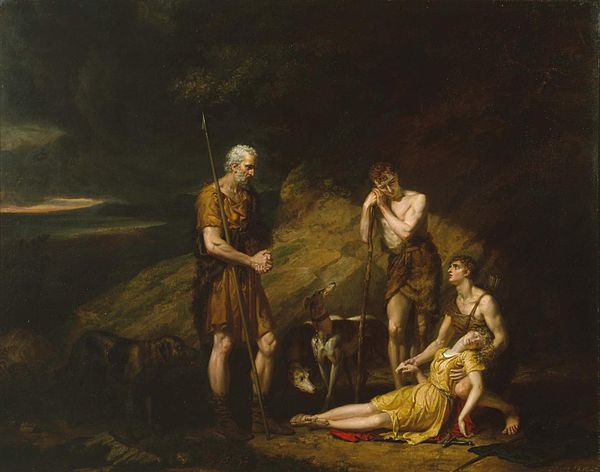 Imogen Discovered in the Cave of Belarius by George Dawe. Imogen Discovered in the Cave of Belarius - George Dawe.jpg