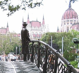 Imre Nagy - Statue of Imre Nagy, facing the Parliament.