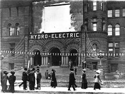 Inaugural of hydro electric power in Toronto