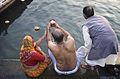 India - Varanasi couple Ganges - 0294.jpg