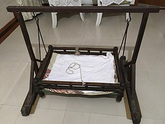 Bassinet - A wooden cradle from India