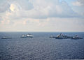 Indonesian navy, U.S. Navy and U.S. Coast Guard ships transit the Java Sea June 6, 2012, while conducting ship formation exercises during the at-sea phase of Cooperation Afloat Readiness and Training (CARAT) 120606-N-HI414-413.jpg