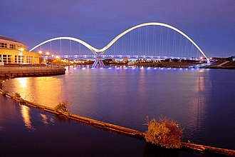 Stockton-on-Tees - The Infinity Bridge, opened in 2009