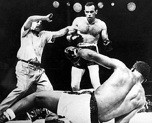 Floyd Patterson - Ingemar Johansson knocks out Floyd Patterson and becomes boxing heavyweight champion of the world, June 26, 1959.