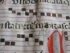 Inherent vice (library and archival science) - An example of inherent vice: the iron gall ink used in this manuscript (from Igreja de São Francisco, Évora, Portugal) has oxidized the cellulose, causing the paper to disintegrate.