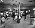 Interior of the Zion Museum space with visitors and children looking at exhibits. ; ZION Museum and Archives Image ZION 8743 (4596cca8103840a38dae60c8a960090c).jpg