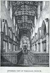 Interior view of Wrexham church