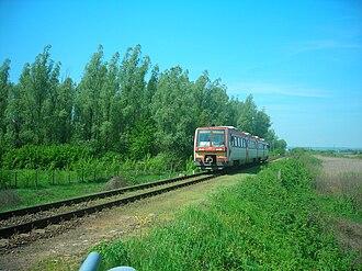 InterRegio - A Hungarian InterRégio train in Gemenc between Baja and Bátaszék