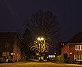 Intersection of Rue Franciscus Vandevelde and Rue Jean Ekelmans, looking towards Rue Jean Ekelmans, December evening (civil twilight) in Auderghem, Belgium.jpg