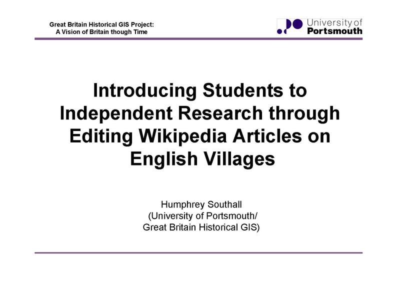 File:Introducing Students to Independent Research through Editing Wikipedia Articles on English Villages.pdf