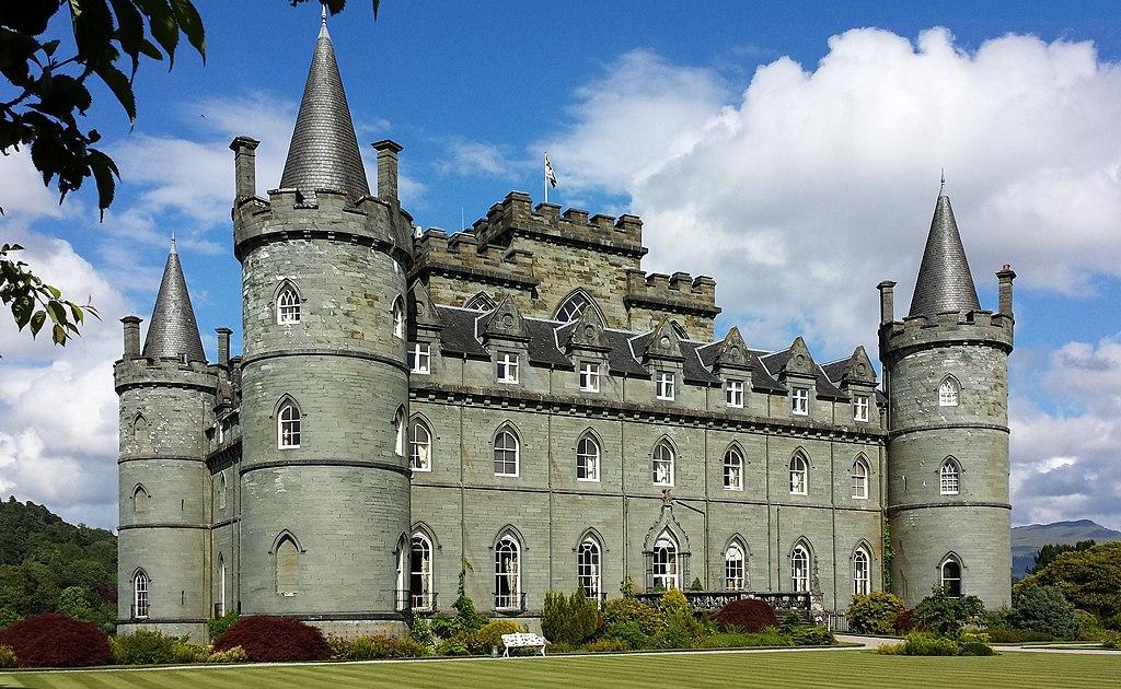 Inveraray Castle - south-west facade