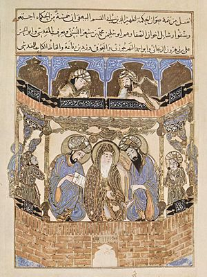 Brethren of Purity - Arabic manuscript illumination from the 12th century CE showing the Brethren of Purity.