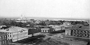 Irkutsk - Epiphany Cathedral and central Irkutsk in 1865