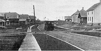Iroquois Falls - Street in Iroquois Falls, 1917