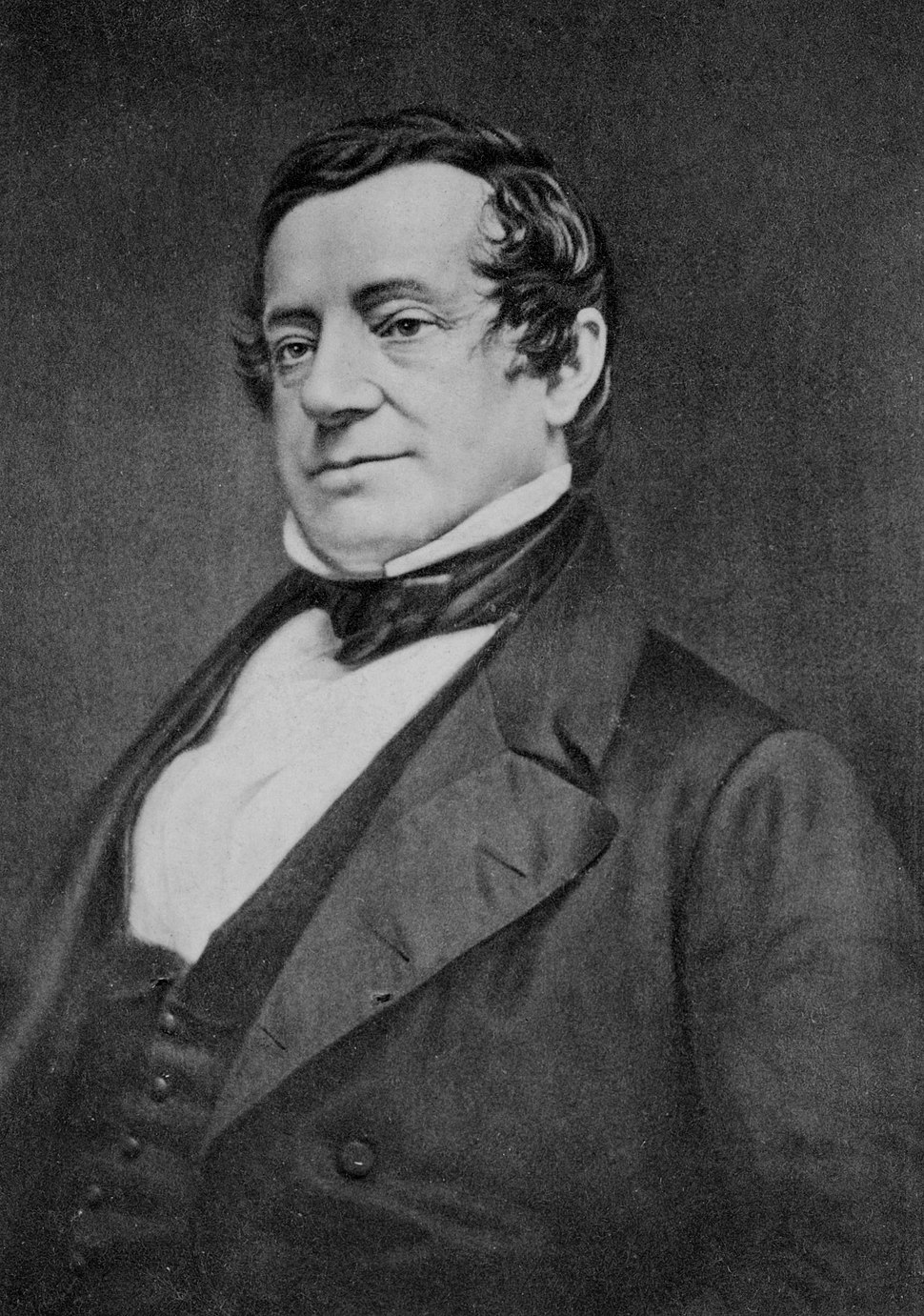 Daguerreotype of Washington Irving (modern copy by Mathew Brady, original by John Plumbe)