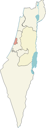 Localisation de District de Tel Aviv en Israël