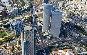 Begin Road - Begin Road, and on the right: Azrieli Center