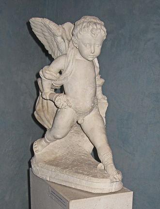 Giovanni Dalmata - Putto bearing the Cippico shield and torch, circa 1480. Trogir City Museum.