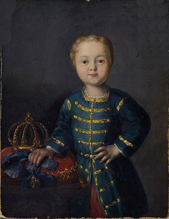 Ivan VI of Russia - Portrait of a young Ivan VI