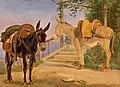 Jørgen Valentin Sonne, To æsler, 1839, RKMm0210, Ribe Kunstmuseum.jpg