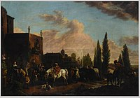 J. Horemans after Philips Wouwerman - Departing for the Hunt.jpg