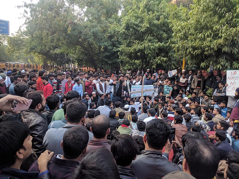 Berkas:JMI students and locals protesting against CAA NRC.jpg