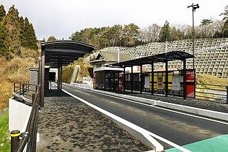 Rikuzen-Minato Station - BRT station in December 2012