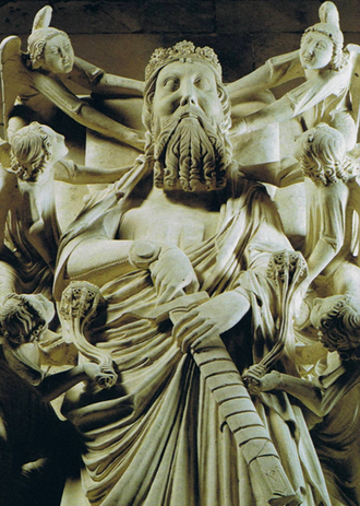 Peter I of Portugal - Recumbent effigy on the tomb of King Peter I (c. 1360), Alcobaça Monastery.