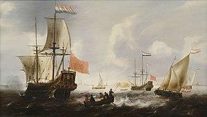 Jacob Adriaensz Bellevois - Jacob Adriaensz. Bellevois: Dutch ships at the Vlissingen coast