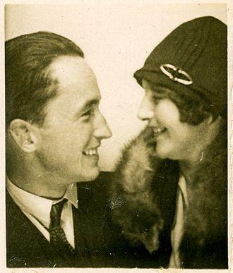 Jacob Bjerknes - Jacob and his wife Hedvig Bjerknes, nee Borthen, Tivoli, Denmark, 1929