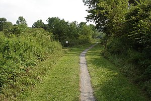 Bushkill Township, Northampton County, Pennsylvania - A trail in Jacobsburg Environmental Education Center a PA state park in Bushkill Township.