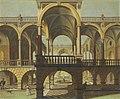 Jacobus Ferdinandus Saey (Attr.) - Capriccio of a colonnaded courtyard.jpeg