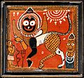 Jagannath as a monstrous beast, with a human worshipper and Wellcome V0017731.jpg