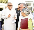 Jairam Ramesh discusses the measures to clean River Yamuna with the Chief Minister of Haryana, Shri Bhupinder Singh Hooda and the Chief Minister of Delhi, Smt. Sheila Dikshit, in New Delhi on March 27, 2011 (1).jpg