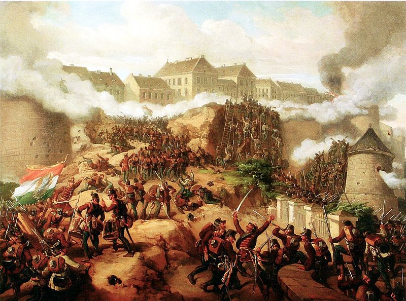 Battle of Buda, May 1849, by Mór Than.